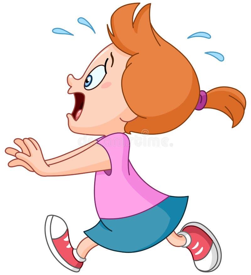 Menina running do pânico ilustração royalty free