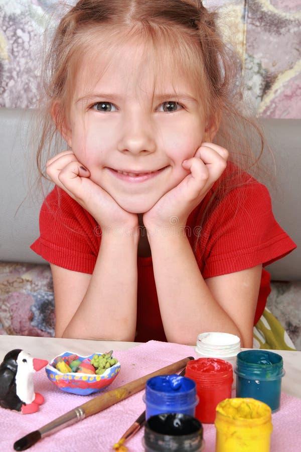 Menina satisfeita fotos de stock royalty free