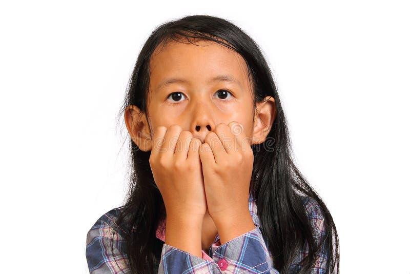 Menina Scared fotografia de stock