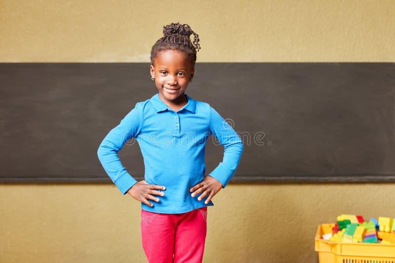 Menina segura como uma estudante foto de stock