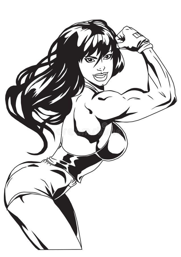 Menina 'sexy' ilustração stock