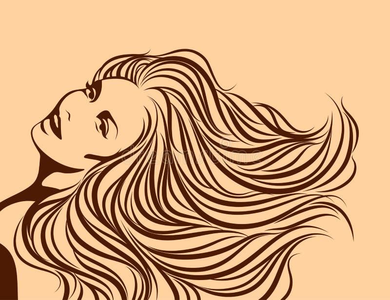 Menina 'sexy' bonita. ilustração royalty free