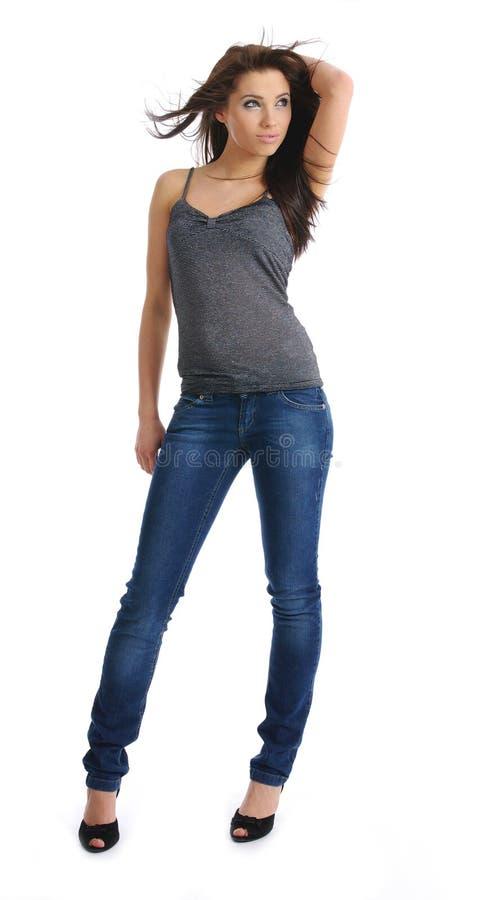 menina 'sexy' com cabelo longo fotos de stock royalty free
