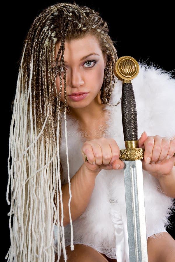 Menina 'sexy' com espada imagem de stock royalty free