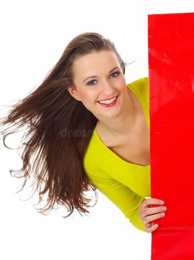Menina 'sexy' com indicador vermelho fotos de stock royalty free