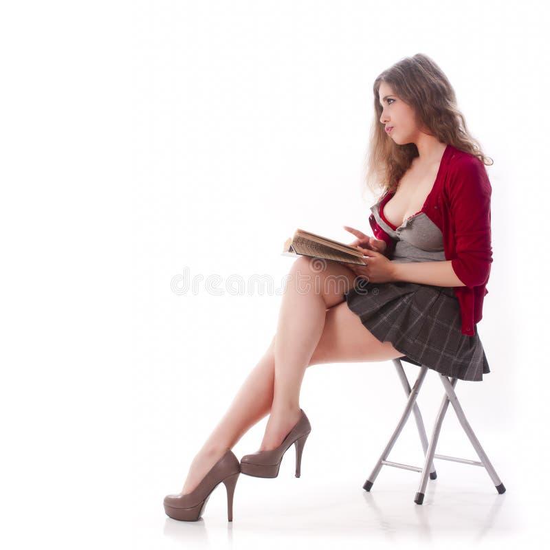 Menina 'sexy' da escola imagem de stock royalty free