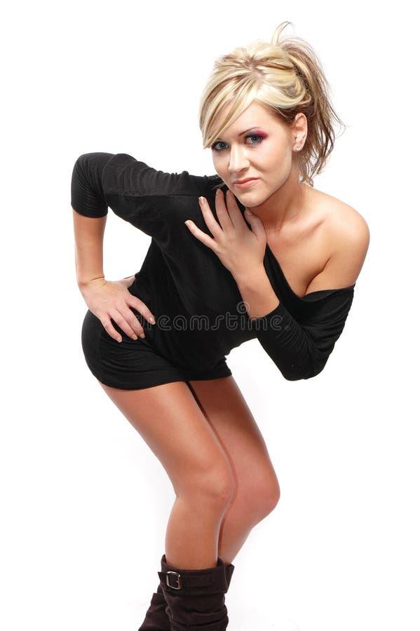 Menina 'sexy' da forma imagens de stock