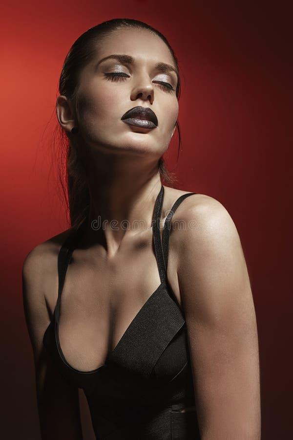 Menina 'sexy' da forma imagens de stock royalty free
