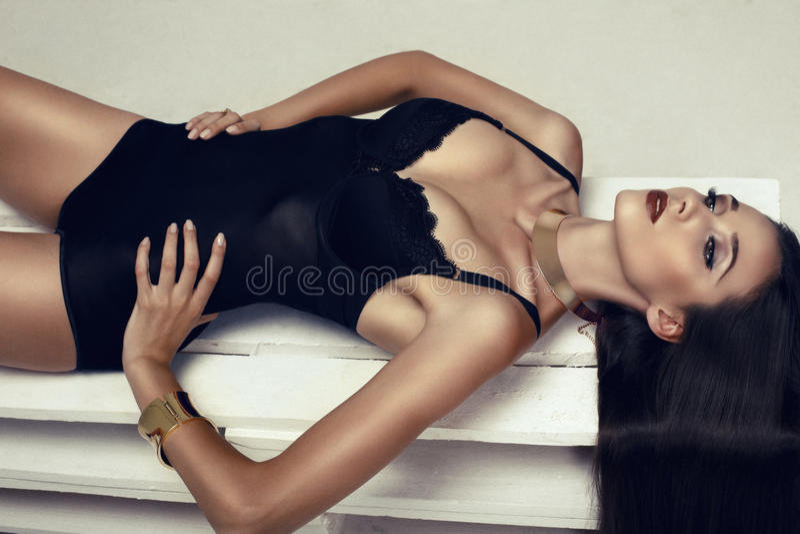 Menina 'sexy' da menina bonita imagem de stock royalty free