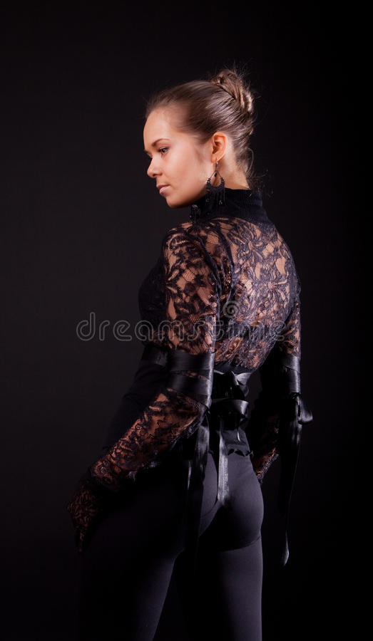 Menina 'sexy' de atrás fotografia de stock