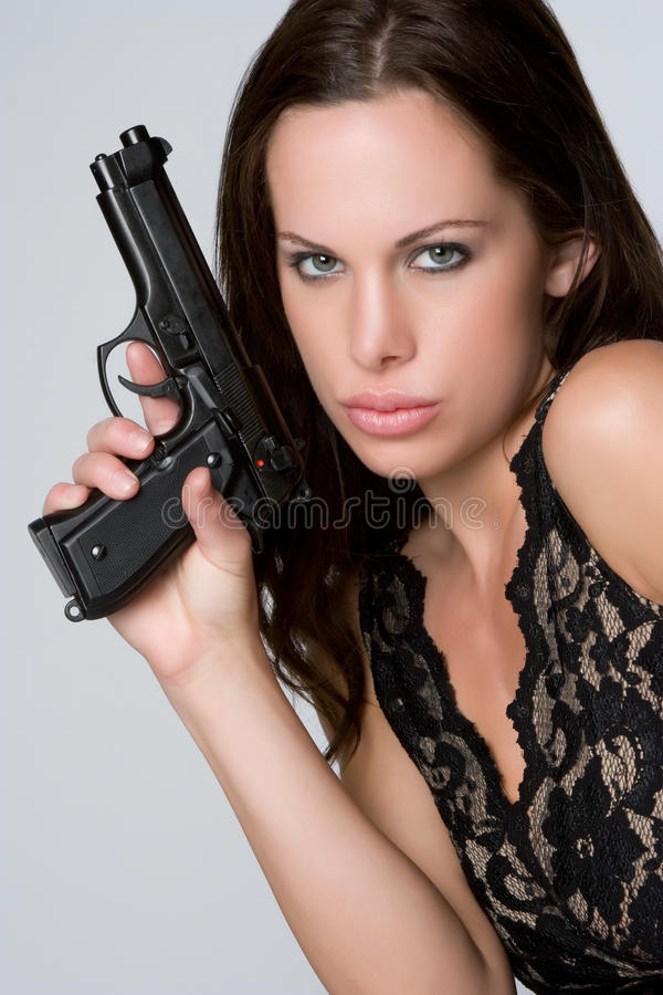 Menina 'sexy' do injetor fotografia de stock