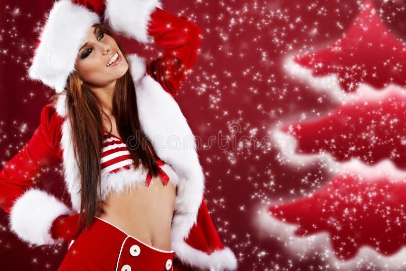 Menina 'sexy' do Natal foto de stock royalty free
