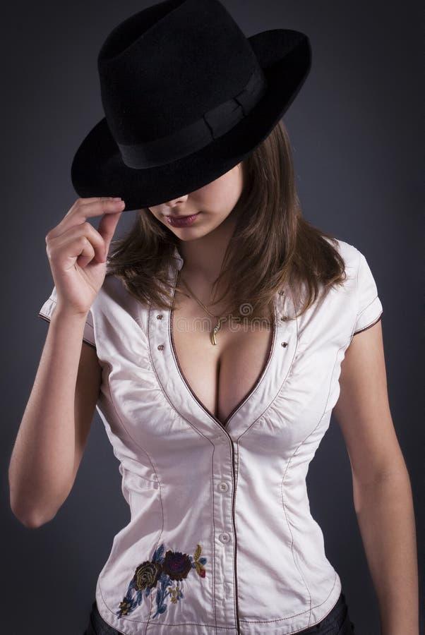 Menina 'sexy' do retrato do estúdio fotos de stock