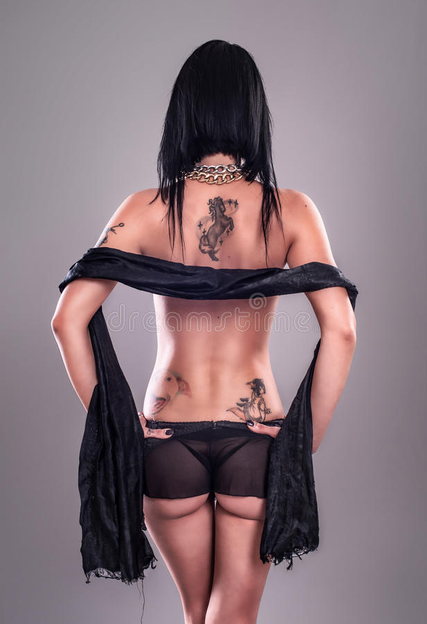 Menina 'sexy' do tatuagem imagens de stock royalty free