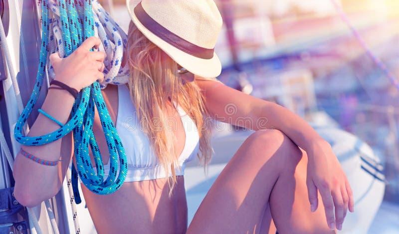 Menina 'sexy' nova do marinheiro fotografia de stock