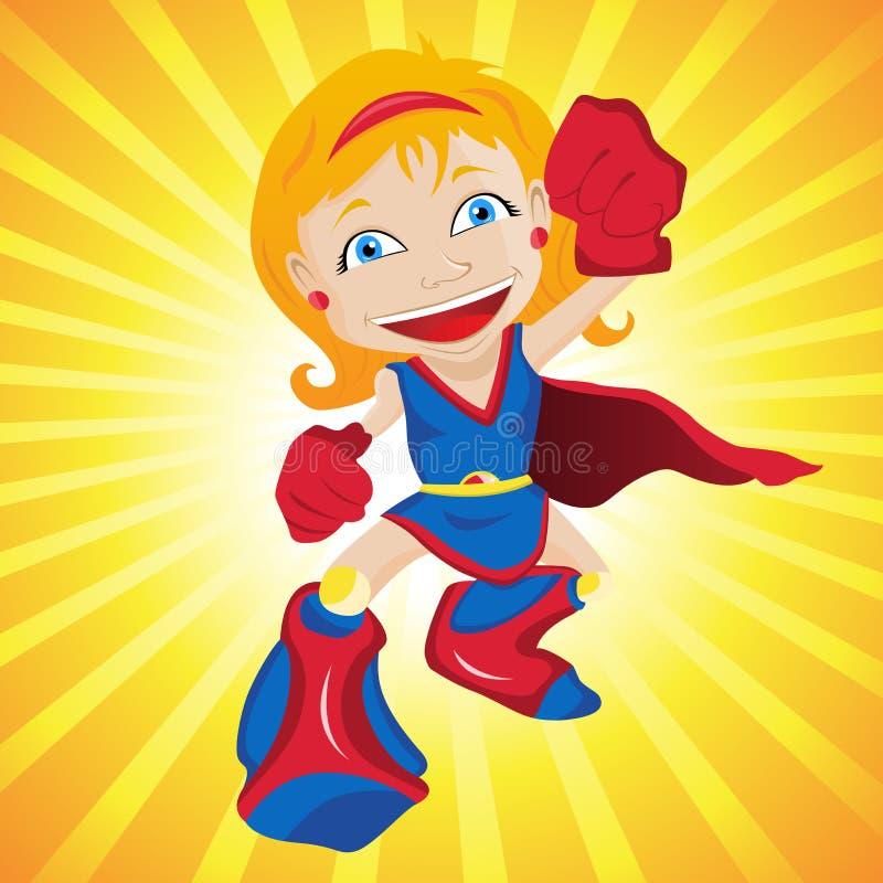 Menina super do herói. ilustração royalty free