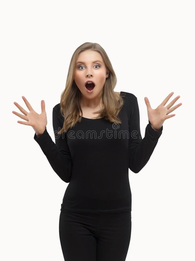 Menina surpreendida fotos de stock royalty free