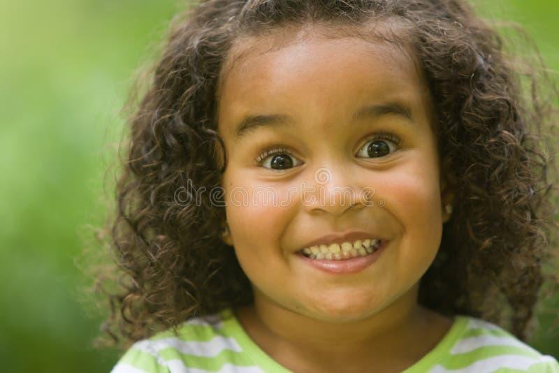 menina surpreendida feliz imagens de stock