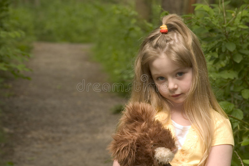 Menina tímida fotografia de stock royalty free