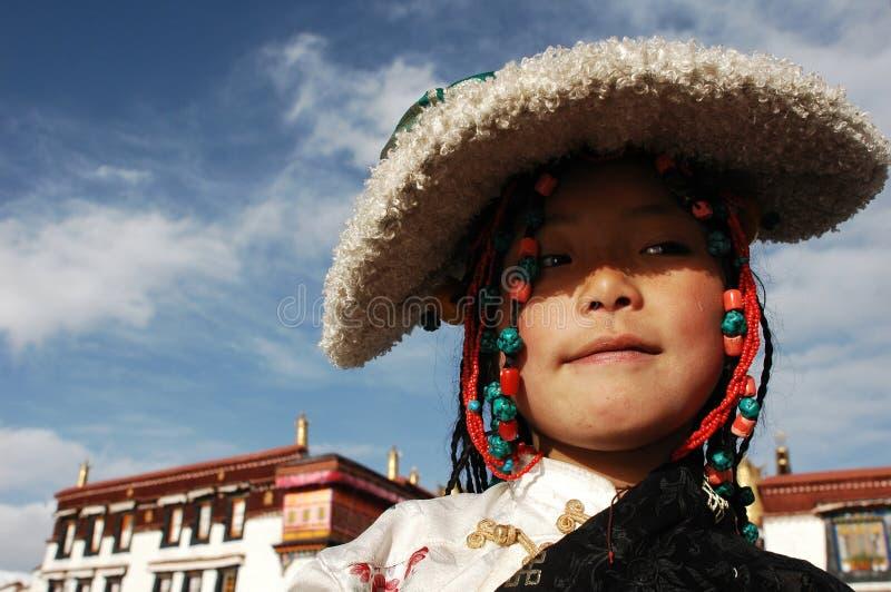 Menina tibetana imagens de stock royalty free