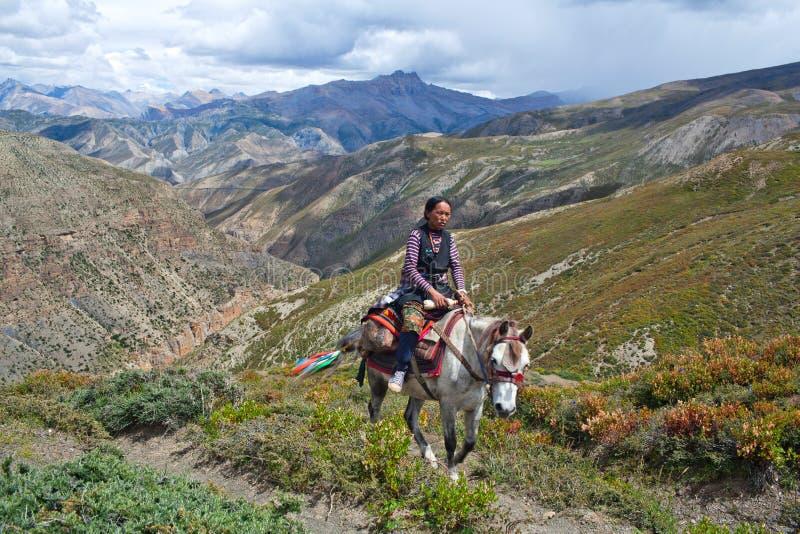 Menina tibetana fotos de stock royalty free