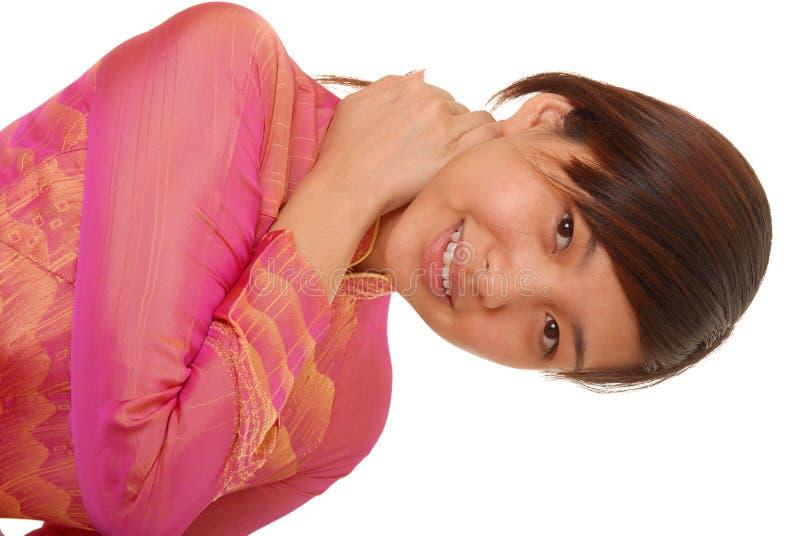 Menina triguenha asiática encantadora foto de stock royalty free