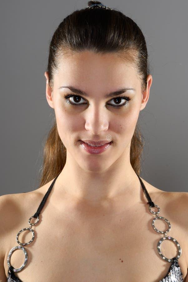Menina triguenha bonita nova foto de stock royalty free
