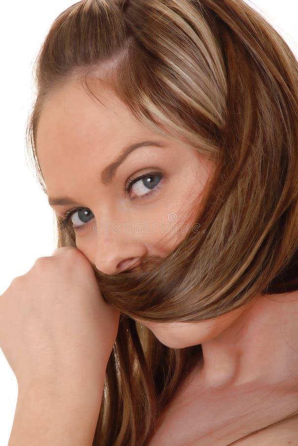 Menina triguenha encantadora fotografia de stock royalty free