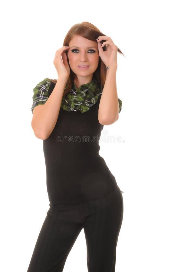 Menina triguenha encantadora imagem de stock