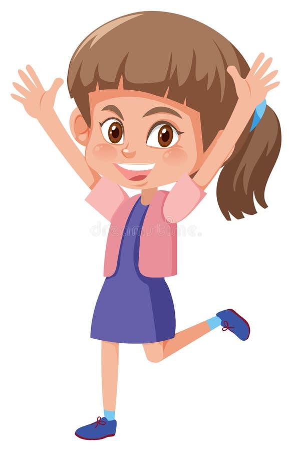 Menina triguenha feliz nova ilustração royalty free