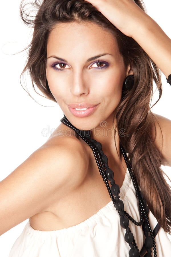 Menina triguenha nova 'sexy' imagem de stock royalty free