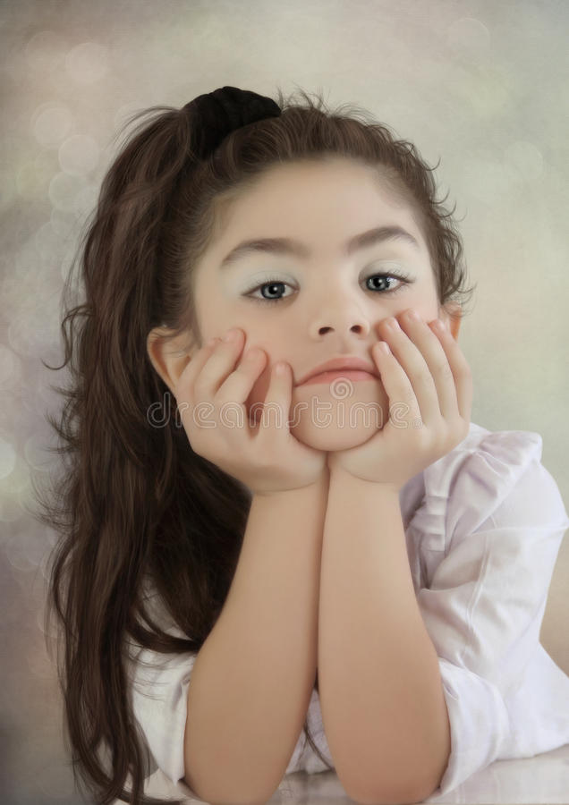 A menina triste imagens de stock royalty free