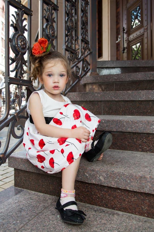 Menina triste bonita fotografia de stock