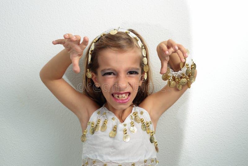 Menina vestida no feriado fotografia de stock