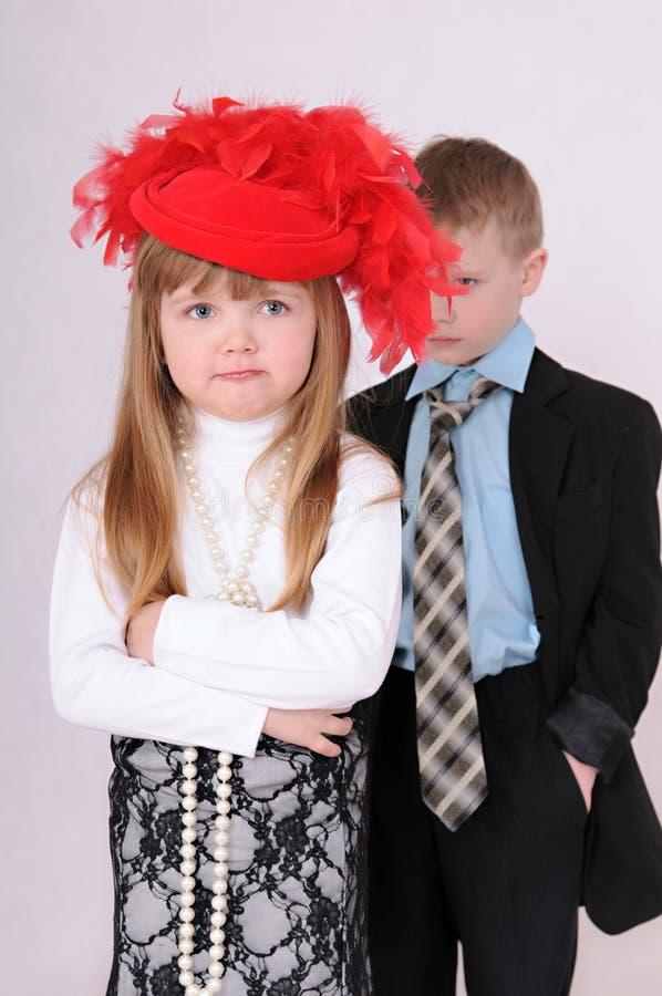 Menina virada imagens de stock royalty free