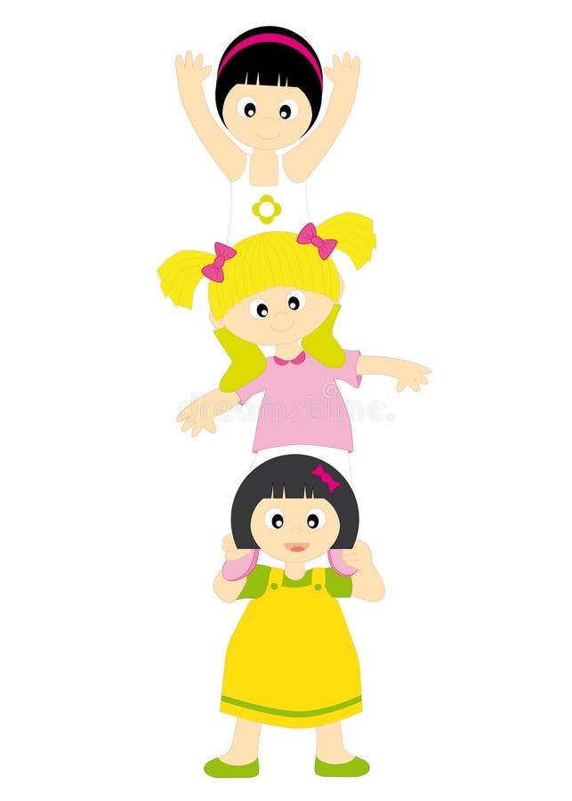 Meninas ilustração royalty free