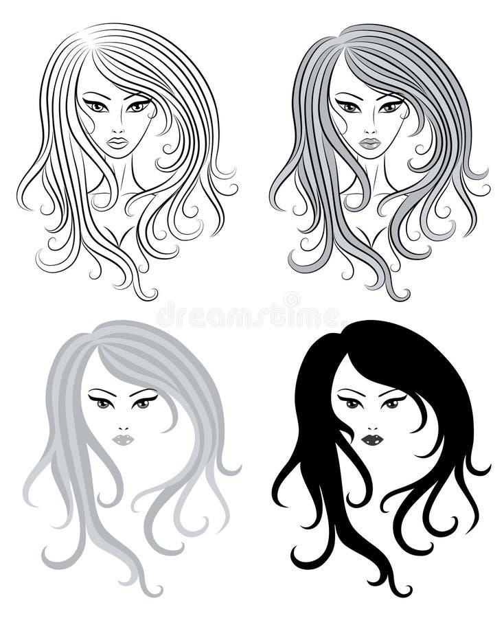 Meninas. ilustração royalty free