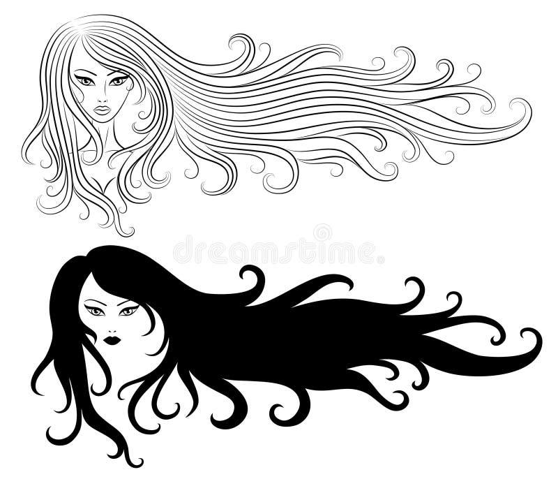 Meninas. ilustração stock