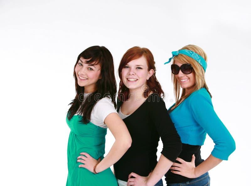 Meninas adolescentes de sorriso fotos de stock royalty free