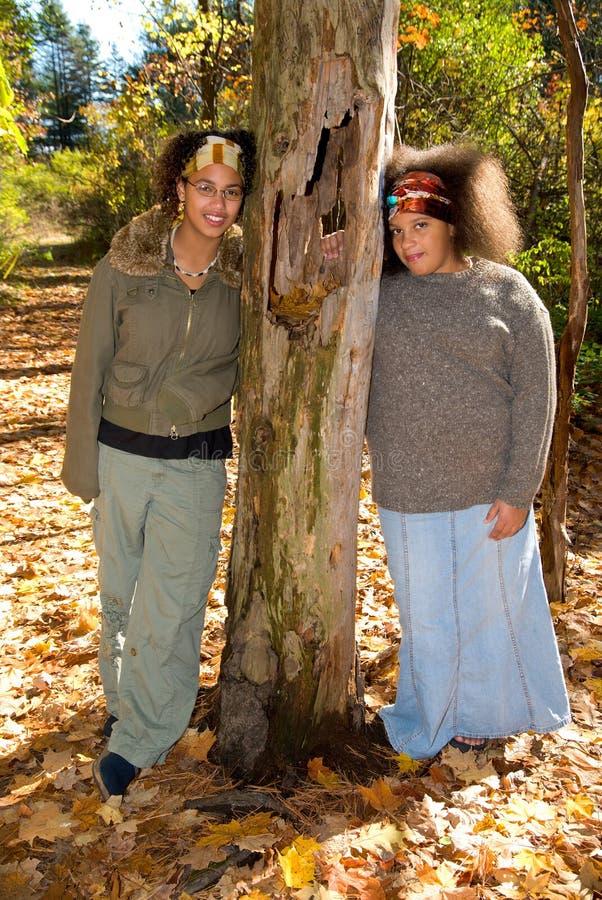 Meninas adolescentes do americano africano foto de stock royalty free