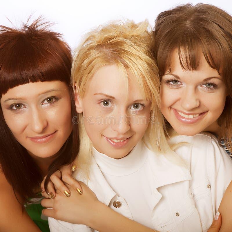 Meninas adolescentes felizes fotografia de stock royalty free