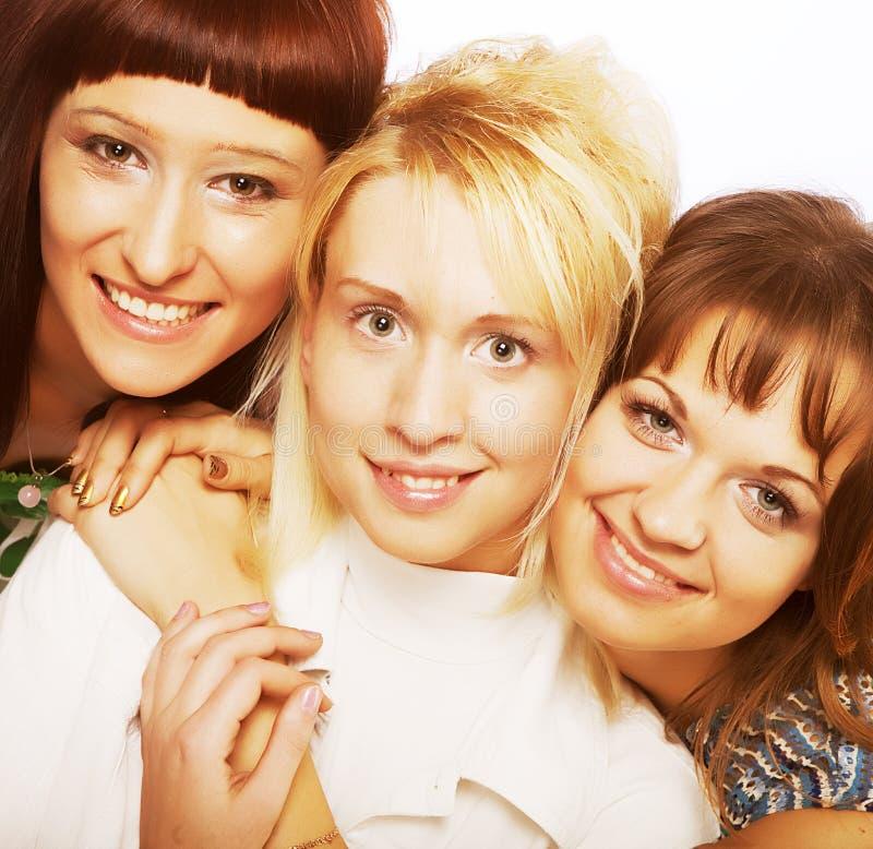 Meninas adolescentes felizes imagens de stock royalty free
