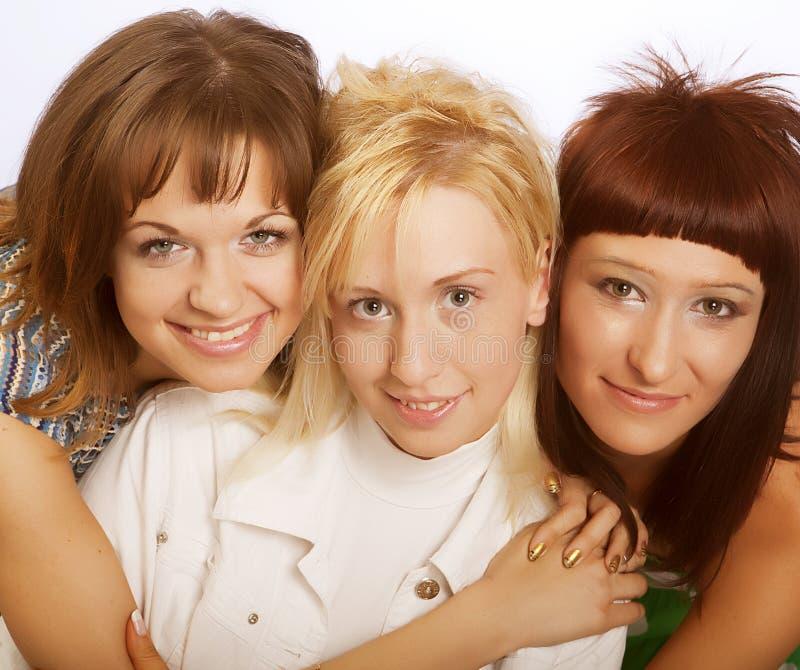 Meninas adolescentes felizes imagem de stock royalty free