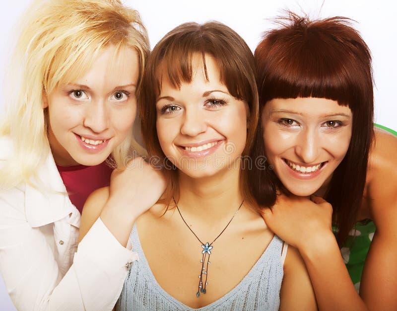 Meninas adolescentes felizes imagem de stock