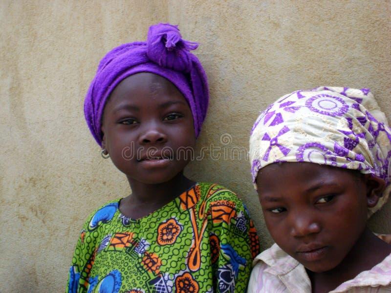 Meninas africanas - Ghana foto de stock
