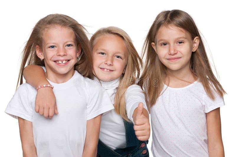 Meninas alegres fotografia de stock royalty free