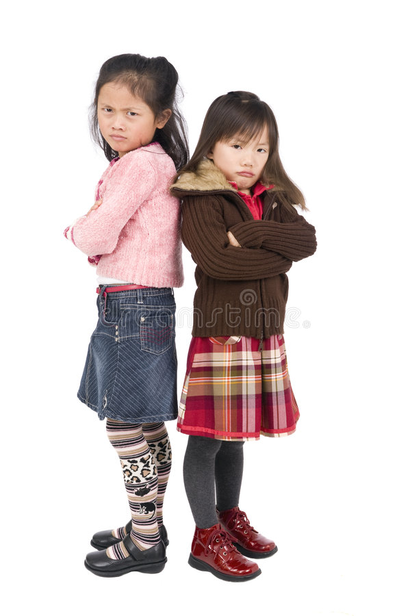 Meninas amuando fotografia de stock royalty free
