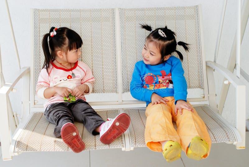Meninas asiáticas bonitos imagem de stock