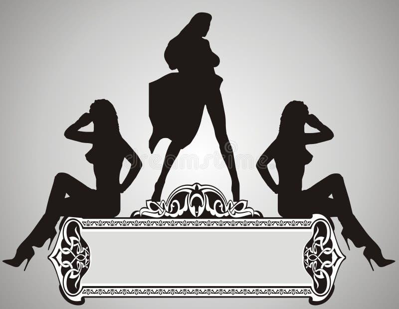 Meninas bonitas ilustração do vetor