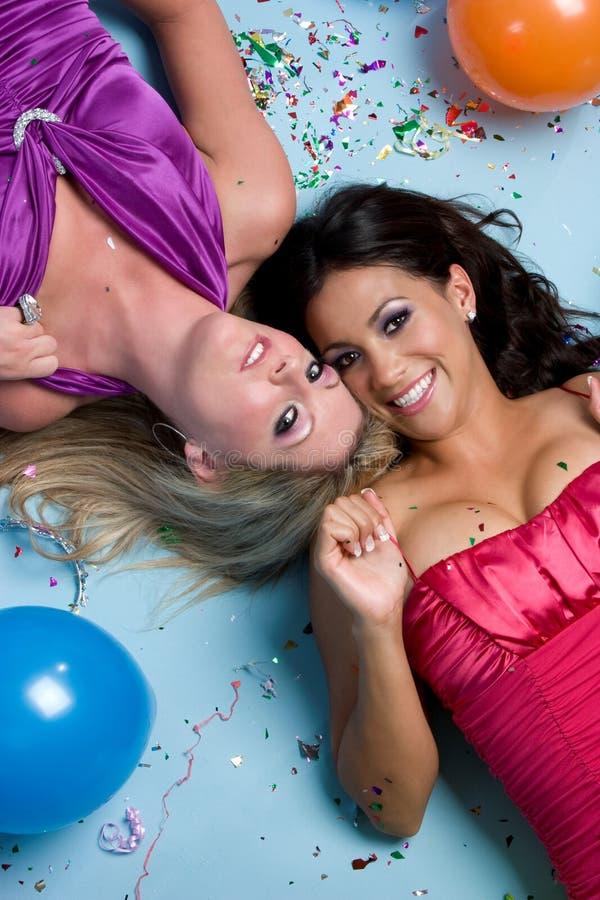 Meninas bonitas do aniversário imagens de stock